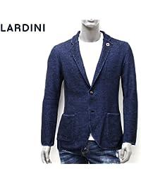 (ラルディーニ) LARDINI ジャケット ニット 鹿の子織り ダークネイビー×ライトブルー EELJM19 EE50012 850CE [並行輸入品]