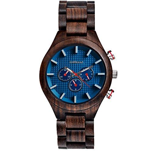 truwood Marine Wooden Watch withブラックサンダルウッドとall-woodバンド