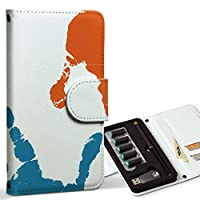 スマコレ ploom TECH プルームテック 専用 レザーケース 手帳型 タバコ ケース カバー 合皮 ケース カバー 収納 プルームケース デザイン 革 ユニーク 手形 カラフル イラスト 003787