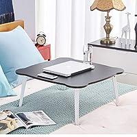 折りたたみ式ベッド、折り畳みテーブル折り畳み式の脚とポータブルサイズのラップトップデスク、ラップトップコンピュータスタンド読書ホルダー朝食トレイ