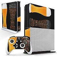 igsticker Xbox One S 専用 スキンシール 正面・天面・底面・コントローラー 全面セット エックスボックス シール 保護 フィルム ステッカー 008630
