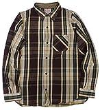 (デラックスウェア)DELUXEWARE1948s ヘビーネル 長袖 チェック ワークシャツ AUTUMN フランネル AUTUMN HEAVY NEL SHIRTS ウォッシュド HV-28 XL バーガンディ