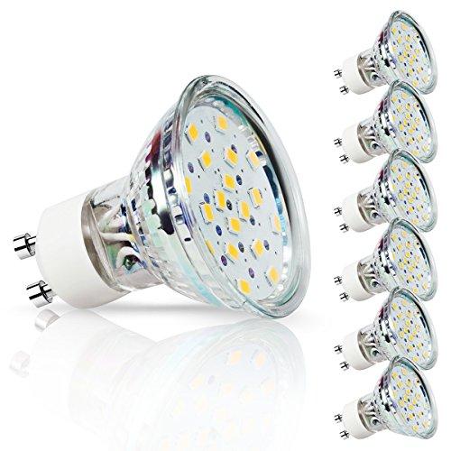DORESshop LEDスポットライト GU10口金 ハロゲン電球50W形相当 400lm 電球色...