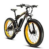 Cyrusher XF660 FATBIKE 17×26インチ マウンテンバイク アルミフレーム電動自転車シマノ7段変速 (イエロー)