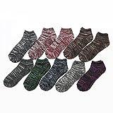 メンズ 靴下 アンクルソックス くるぶし 25-27cm 10足組 合わせやすい カラー  通勤 通学