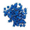 Kalevel 50個 10k可変抵抗器 セット 3296W サーメット ポテンショメータ 多回転ボリューム 高精度 半固定 電子パーツ 抵抗 トップ調整可能 10kオーム(103)