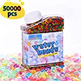 LEEHUR 9 Ounces Soft Water Beads for Kids Sensory Play Toys Rainbow Mix Non-Toxic Gel Jelly Growing Balls Spa Refill Vases Home Outdoor Party Decoration