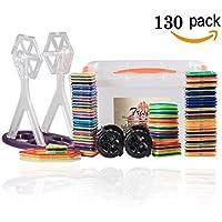積み木 知育玩具 磁気おもちゃ お祝いプレゼント子供おもちゃ 創造力と想像力を育てる (130ピース)