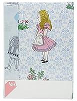 【不思議の国のアリス】 V&A 掛けふとんカバー (ダブルロング 190×210cm) ブルー 1-2840-8404-6700