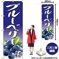のぼり旗 ブルーベリー JA-391(三巻縫製 補強済み)