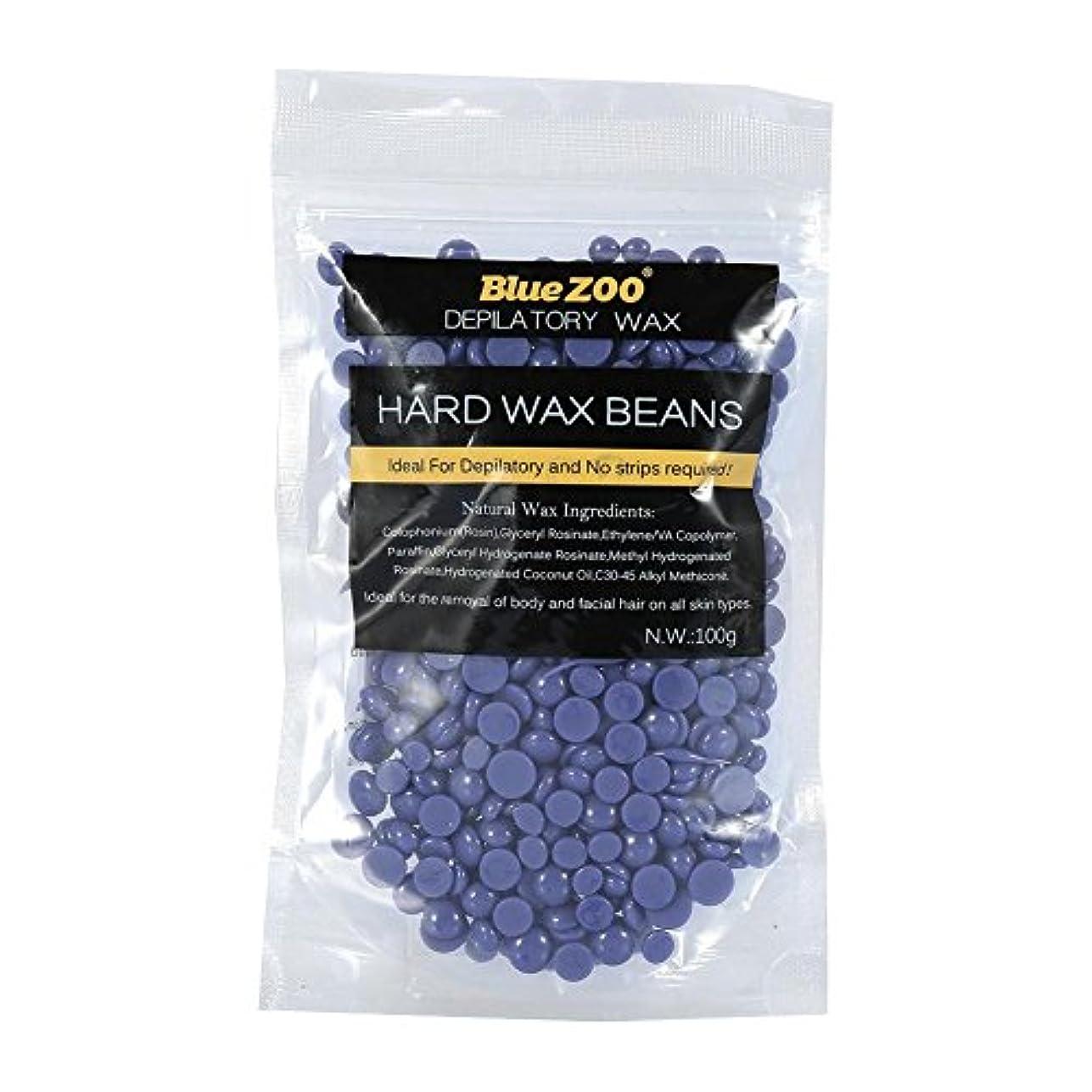 ワックス脱毛ワックスヒーター+ 4 x 100g異なるワックス豆+ 10個ワックススティックプロフェッショナルワックス脱毛セット(ラベンダー)