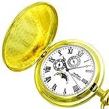 MONTRES モントレス ムーンフェイス搭載 ポケットウォッチ 懐中時計 ゴールド MS-933-GD/ローマ