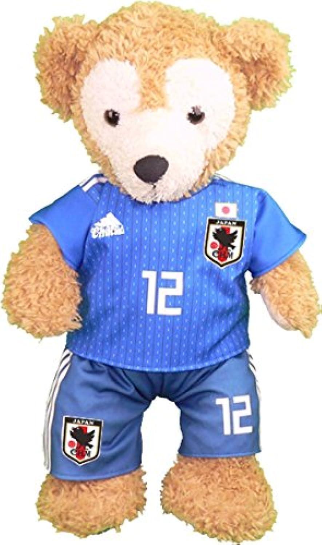 ダッフィー Sサイズ用 日本代表2018年 ユニフォーム風コスプレ衣装 サッカー ※番号?ネーム指定可