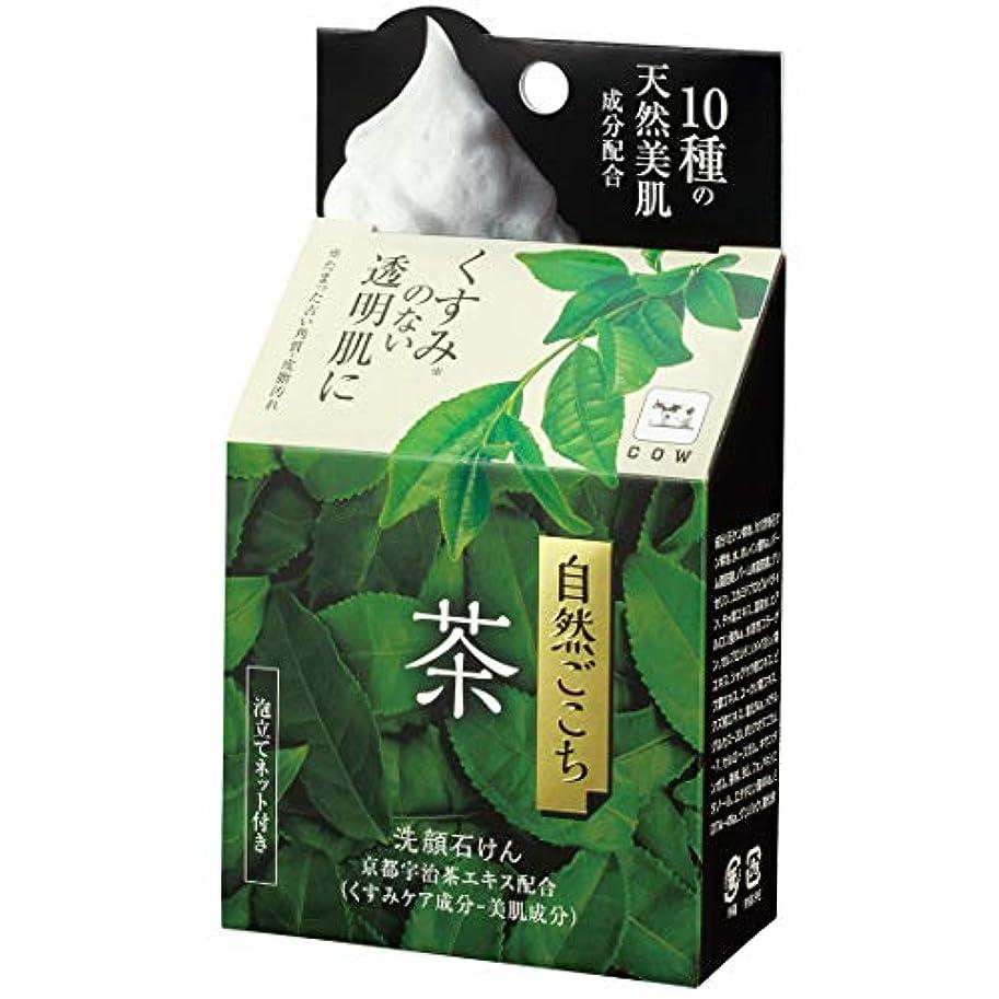 長方形アレキサンダーグラハムベル平均自然ごこち 茶 洗顔石けん 80g