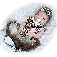 Reborn新生児Sleeping Girlフルボディシリコンベビービニール人形22インチRealisticで子供磁気おもちゃおしゃぶり