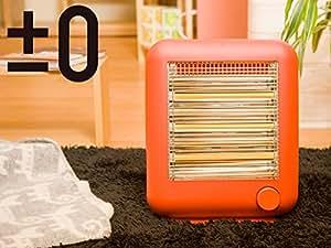 ±0 Steam Infrared Electric Heater プラスマイナスゼロ 遠赤外線 電気ストーブ スチーム 機能付き【レッド】
