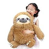 ヴェノダ ナマケモノ ぬいぐるみ ほほえみ ニコニコ ビッグ なまけもの おもちゃ 抱き枕 置物 お誕生日 記念日 贈り物 50cm(茶色・ブラウン)