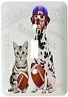 3drose LLC lsp _ 127605_ 1グレーTabby Cat and Dalmatian withサッカーボールFunスポーツテーマSingle切り替えスイッチ