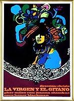 ポスター エドゥアルド・ムニョス・バッチ La virgen y el gitano - Christopher Miles (クリストファー・マイルズ) 額装品 アルミ製ベーシックフレーム(ゴールド)
