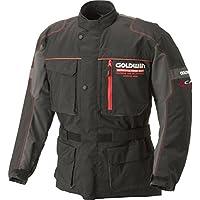 GOLDWIN(ゴールドウイン) バイクジャケット GWS リアルライドロング ブラック×レッド(KR) L GSM12459