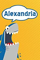 "Alexandria: Personalized Shark Isometric DOT Paper notebook for Kids  120 pages 6""x9"""