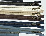 アンティークゴールド オープンファスナー 70cm 黒 / YKK