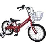 リーズポート(REEDSPORT) 16インチ レッド 補助輪付き 組み立て式 子供用自転車 幼児自転車