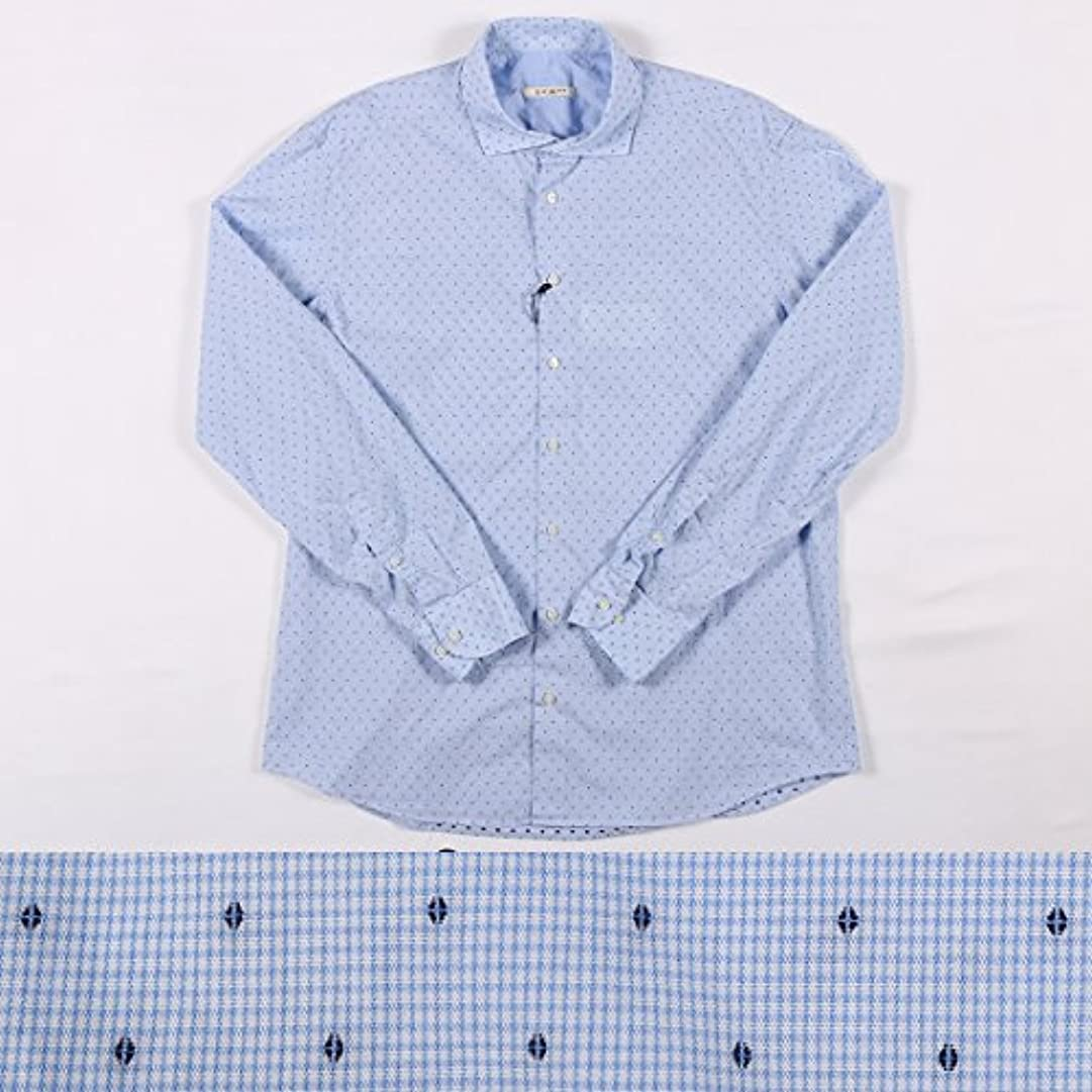 接辞孤独不合格EXIBIT 刺繍 長袖シャツ CA113C771 blue 43 14834【A14834】 エグジビット [並行輸入品]