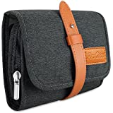 ProCase Travel Gadgets Organizer Bag, Universal Electronic Accessories Cable Roll-Up Pouch Portable Gear Storage Carrying Case for Charger Cords SD Memory Cards Earphone Hard Drive –Black