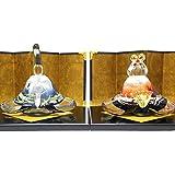ガラスのお雛様 glass calico グラスキャリコ 富士雛 ハンドメイド ガラスアート 雛人形 ひな人形 おひなさま 桃の節句 オブジェ コンパクト