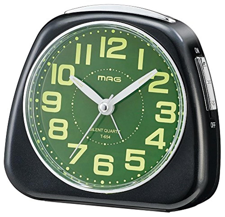 MAG(マグ) 目覚まし時計 時之助 アナログ表示 集光文字板 ブラック T-654BK-Z