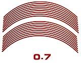 AUTOMAX izumi リム(赤)0.7cm▼直線レッド反射 幅0.7cmリムステッカー14~16インチ対応 リムライン