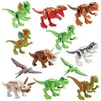 【ALCORY】 恐竜 ブロック 互換有り ジュラシックセット 恐竜12体セット