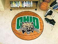 """Fanmats Ohio University Bobcats basketball-shapedマット 29"""" Diamenter オレンジ 00156 1"""