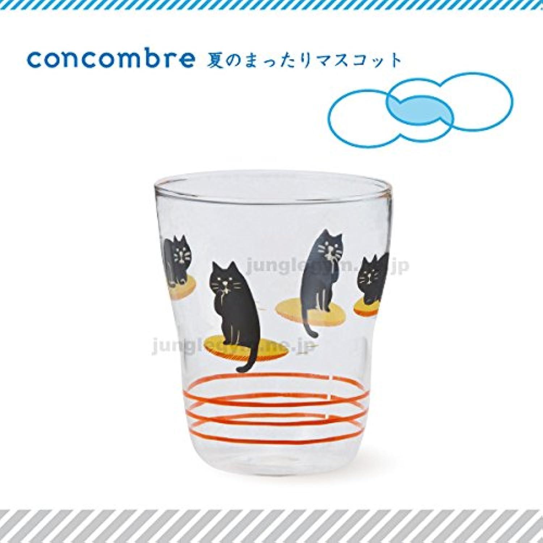 デコレ(decole)コンコンブル(concombre)まったりグラス フライングお座布団:黒猫