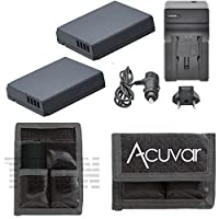 2dmw-bcj13交換用電池for Panasonic Lumix DMC - lx7、lx5、dmw-bcj13pp、dmw-bcj13eデジタルカメラ+車/ホーム充電器+ acuvarバッテリーポーチ