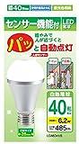 サナーエレクトロニクス 人感センサーLED電球 省エネ E26 40W相当 昼光色 LDA6D-H/S