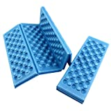 Mikotox 超軽量 折り畳み 座布団 2枚セット 防水 断熱 マット 公園 サウナ アウトドア (ブルー)