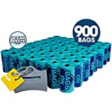 Bags on Board Odor Control Dog Poop Bags and Dispenser | Ocean Breeze Scent | 900 Waste Pickup Bags