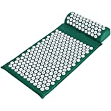Ancheer Back Neck Acupressure Spike Yoga Mat Pillow Set / Bed of Nails for Massage Relaxation and tension release