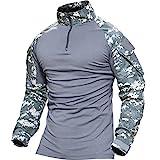 TACVASEN タクティカル シャツ 長袖 ミリタリーTシャツ TDUシャツ メンズ アウトドア スポーツシャツ 自衛隊迷彩 サバゲー装備 ACU 3XL