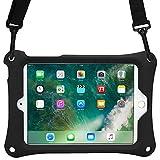 iPad Mini 1 2 3 4 ケース COOPER BOUNCE STRAP ショルダー ストラップ 丈夫 頑丈 ラギッド タフ 保護 衝撃 吸収 ゴム シリコン キャリー キッズ ホルダー バッグ スタンド 付 Apple iPad Mini 用 (ブラック)