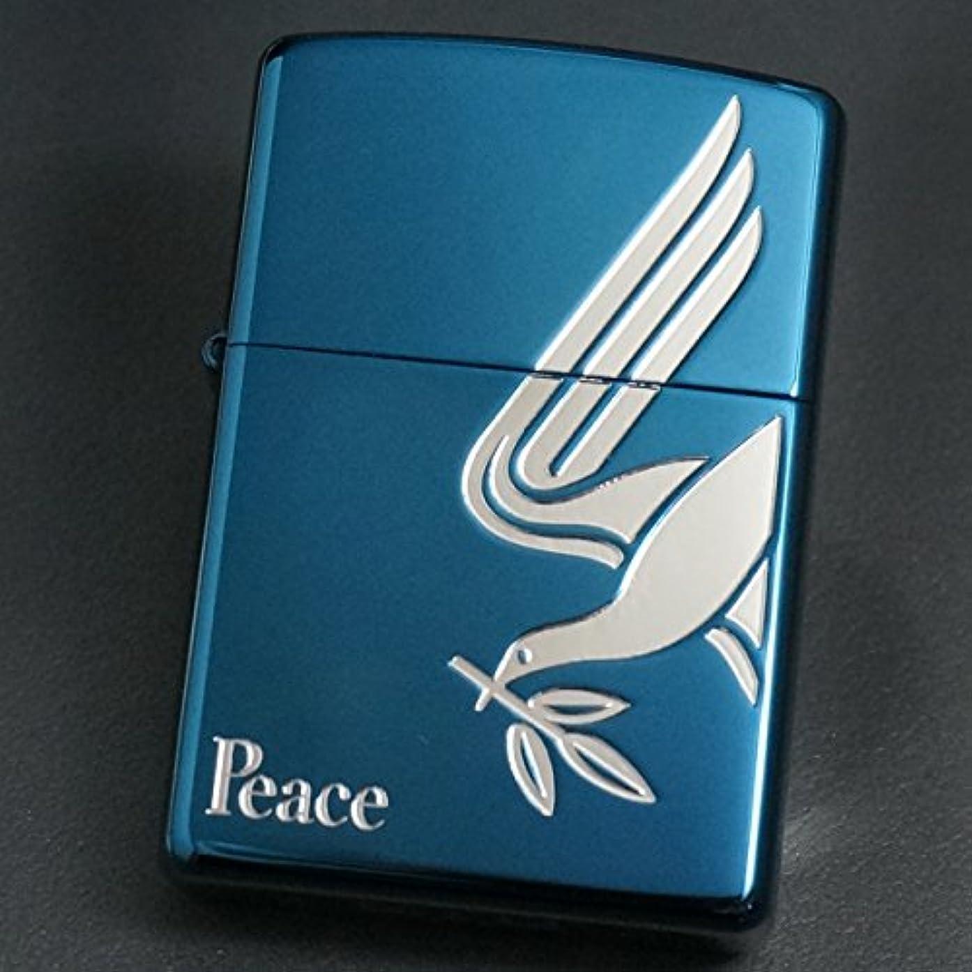 有効でもヘビーzippo(ジッポー) Peace 鳩とオリーブ 2007年製造