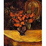 手描き-キャンバスの油絵 - Bouquet ポスト印象派 flower ポール・ゴーギャン 芸術 作品 洋画 ウォールアートデコレーション -サイズ01