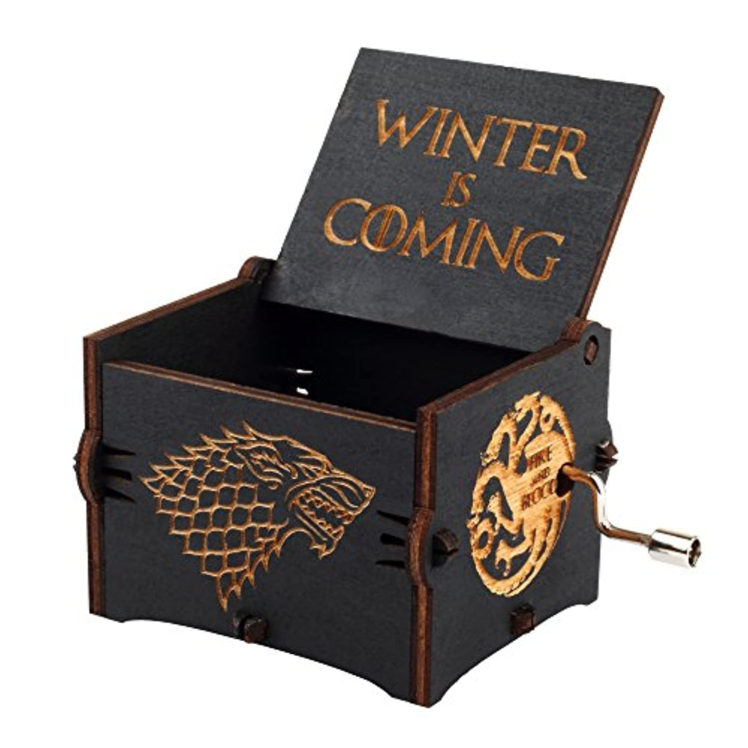 Engraved Wood Musical Box Music Box Main Theme Game of Thrones Game of Thrones Gift