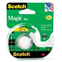 "Scotch : Magic Officeテープwith詰め替え可能ディスペンサー、3/ 4"" x 650」、クリア–: -として販売2パックof–1–/–Total of 2Each"