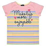 アスナロ(トップス 半袖tシャツ) 半袖Tシャツ 女の子 キッズ ボーダー柄 Tシャツ カットソー110 C-ピンク