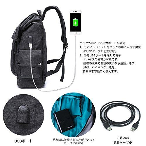 MR.YLLS USBポートバックパック PC通勤通学ビジネスバッグ 15.6インチ収納リュックサック 搭載 レインカバー付き 盗難防止 アウトドア 高校生 大学生 男女兼用 トラベル 収納 (black)