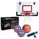 Lv Zhengjun 2017新作 ミニバスケットボールセット プロミニフープ  Pro Mini Basketball Hoop 2つ静かな綿のミニボール 1つミニバスケットボール 空気ポンプ 自宅 オフィス用