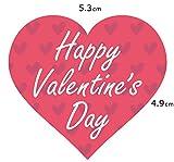 「Happy Valentine's Day」ハート型 バレンタインシール(300枚入) 【k-028】